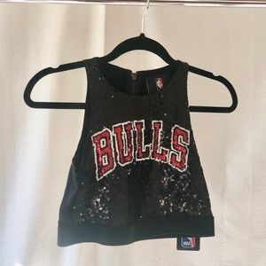 NEW!! Bulls Sequin Crop Top